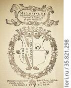 Title Page from Inigo Lopez de Mendoza. Редакционное фото, агентство World History Archive / Фотобанк Лори