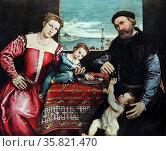 Painting of a Noble Family. Редакционное фото, агентство World History Archive / Фотобанк Лори