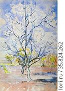 Vincent Van Gogh 'Blossoming peach trees'. Редакционное фото, агентство World History Archive / Фотобанк Лори