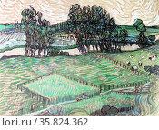 Vincent Van Gogh 'Landscape with bridge over the Oise' Редакционное фото, агентство World History Archive / Фотобанк Лори