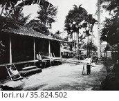 Indonesian silk kains. Редакционное фото, агентство World History Archive / Фотобанк Лори