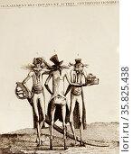 Signalement de chouans et autre contre-revolutionnaires Caricature. Редакционное фото, агентство World History Archive / Фотобанк Лори