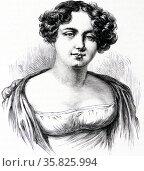 Jane Franklin wife of Sir John Franklin. Редакционное фото, агентство World History Archive / Фотобанк Лори