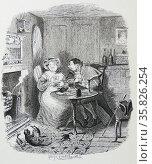 Mr Bumble and Mrs Corney, the Workhouse matron, Редакционное фото, агентство World History Archive / Фотобанк Лори
