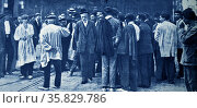 Paulino Iglesias with striking workers in Bilbao 1911. Iglesias (October 18, 1850 – December 9, 1925), better known as Pablo Iglesias, was a Spanish socialist and labour leader. Редакционное фото, агентство World History Archive / Фотобанк Лори