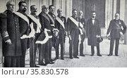 Spain's national salvation government headed by Mr Antonio Maura. Редакционное фото, агентство World History Archive / Фотобанк Лори