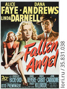 Fallen Angel' a 1945 black-and-white film noir. It features Alice Faye, Dana Andrews and Linda Darnell. Редакционное фото, агентство World History Archive / Фотобанк Лори