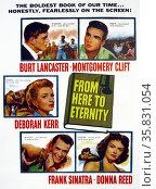 From Here to Eternity' a 1953 drama film starring Burt Lancaster, Montgomery Clift and Deborah Kerr. Редакционное фото, агентство World History Archive / Фотобанк Лори