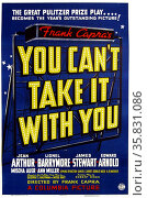 You Can't Take It With You a 1938 American romantic comedy film directed by Frank Capra and starring Jean Arthur, Lionel Barrymore, James Stewart, and Edward Arnold. Adapted from the Pulitzer Prize-winning play of the same name by George S. Kaufman and Moss Hart. Редакционное фото, агентство World History Archive / Фотобанк Лори