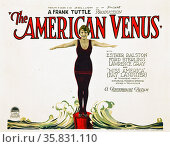 The American Venus was a 1926 American silent comedy film directed by Frank Tuttle, and starring Esther Ralston, Ford Sterling, Edna May Oliver, Lawrence Gray, Fay Lanphier, Louise Brooks, Kenneth MacKenna, and Douglas Fairbanks Jr., and released by Paramount Pictures. Brooks appears, in her first credited role as 'Miss Bayport'. Lanphier was crowned Miss America in 1925.[1] Редакционное фото, агентство World History Archive / Фотобанк Лори