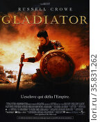 Gladiator' a 2000 British-American epic historical drama film starring Russell Crowe, Joaquin Phoenix, Connie Nielsen, Ralf Moller and Oliver Reed (in his final film role), Djimon Hounsou, Derek Jacobi, John Shrapnel and Richard Harris. Редакционное фото, агентство World History Archive / Фотобанк Лори
