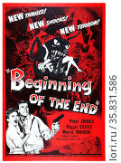 Beginning of the End' with Peter Graves, Peggie Castle and Morris Ankrum a 1957 American science fiction film. Редакционное фото, агентство World History Archive / Фотобанк Лори