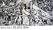 Carlos V. Francisco, Abuses of the Spanish Authorities, 1964, Watercolor. Редакционное фото, агентство World History Archive / Фотобанк Лори