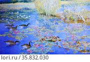 Roberto Balajadia, Lotus, 1992. Oil on canvas. Редакционное фото, агентство World History Archive / Фотобанк Лори