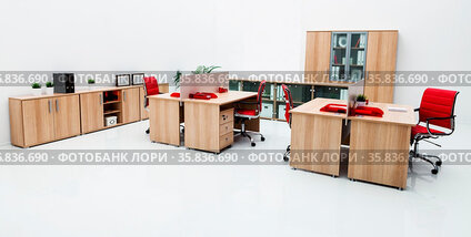 New furniture in a modern office
