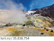 Volcanic landscape of Kamchatka: hot springs and fumaroles field ... Стоковое фото, фотограф Zoonar.com/Alexander A. Piragis / age Fotostock / Фотобанк Лори