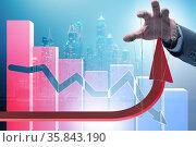 Concept of supporting economic growth in economy. Стоковое фото, фотограф Elnur / Фотобанк Лори