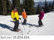 Sking at Silver Star ski resort near Vernon, BC, Canada. Стоковое фото, фотограф Douglas Williams / age Fotostock / Фотобанк Лори