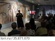 Открытие музейного форума в Балашихинской картинной галерее в дни Славянской письменности и культуры. Редакционное фото, фотограф Дмитрий Неумоин / Фотобанк Лори