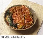 Korean Food Kimchi. Стоковое фото, агентство Ingram Publishing / Фотобанк Лори