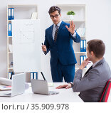 Business meeting with employees in the office. Стоковое фото, фотограф Elnur / Фотобанк Лори