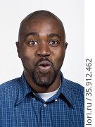 Portrait of mid adult African American man. Стоковое фото, фотограф Shannon Fagan / Ingram Publishing / Фотобанк Лори