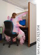 Office worker dressed as a fairy. Стоковое фото, фотограф Shannon Fagan / Ingram Publishing / Фотобанк Лори