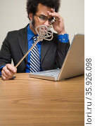 Businessman holding wand. Стоковое фото, фотограф Shannon Fagan / Ingram Publishing / Фотобанк Лори