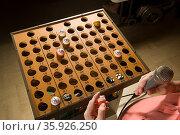Bingo caller at work. Стоковое фото, фотограф Shannon Fagan / Ingram Publishing / Фотобанк Лори