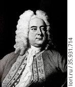George Frideric Handel 1685-1759 German-English Composer. Редакционное фото, агентство World History Archive / Фотобанк Лори