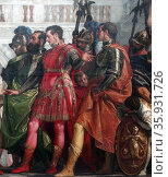 Family of Darius before Alexander. 1565–1570. oil on canvas, painting by Paolo Veronese. Редакционное фото, агентство World History Archive / Фотобанк Лори
