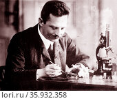 Oswald Richter was an Austrian botanist in the spirit of Gregor Mendel. Редакционное фото, агентство World History Archive / Фотобанк Лори