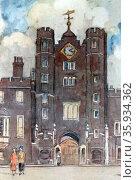 St James's Palace, London, by H.M. Levens 1862-1936), Редакционное фото, агентство World History Archive / Фотобанк Лори