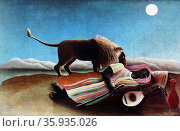 The Sleeping Gypsy by French Naïve artist Henri Rousseau. Редакционное фото, агентство World History Archive / Фотобанк Лори