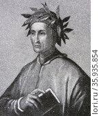 Portrait of Durante degli Alighieri. Редакционное фото, агентство World History Archive / Фотобанк Лори