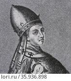 Portrait of Pope Benedict IX. Редакционное фото, агентство World History Archive / Фотобанк Лори