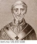 Portrait of Pope Benedict V. Редакционное фото, агентство World History Archive / Фотобанк Лори