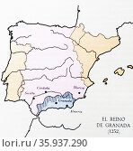 The Emirate of Granada; also known as the Nasrid Kingdom of Granada. Редакционное фото, агентство World History Archive / Фотобанк Лори
