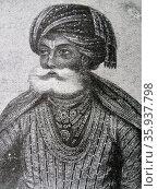 Portrait of Akbar the Great. Редакционное фото, агентство World History Archive / Фотобанк Лори