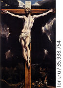 Painting depicting Christ on the Cross by El Greco. Редакционное фото, агентство World History Archive / Фотобанк Лори