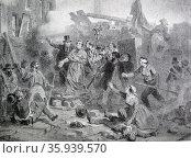 Death of Archbishop Denis Affre. Редакционное фото, агентство World History Archive / Фотобанк Лори