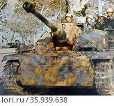 Panzer tank during World War II. Редакционное фото, агентство World History Archive / Фотобанк Лори