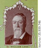 Sir William John Lyne, Australian politician, was Premier of New South Wales, Редакционное фото, агентство World History Archive / Фотобанк Лори
