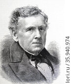 Engraved portrait of Thomas Falconer. Редакционное фото, агентство World History Archive / Фотобанк Лори