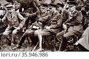 Photograph of Herbert Eaton, 3rd Baron Cheylesmore at the National Rifle Association meeting held at Bisley (2016 год). Редакционное фото, агентство World History Archive / Фотобанк Лори