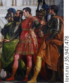 Detail from the painting titled 'The Family of Darius before Alexander' by Paolo Veronese (2013 год). Редакционное фото, агентство World History Archive / Фотобанк Лори