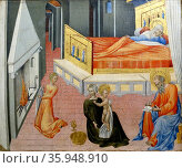 Painting depicting scenes from the life of Saint John the Baptist by Giovanni di Paolo. Редакционное фото, агентство World History Archive / Фотобанк Лори