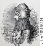 Engraved portrait of Edward, the Black Prince. Редакционное фото, агентство World History Archive / Фотобанк Лори