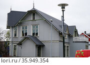 An example of steel cladded Icelandic architecture. Редакционное фото, агентство World History Archive / Фотобанк Лори