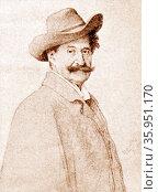 Portrait of Johann Strauss II. Редакционное фото, агентство World History Archive / Фотобанк Лори